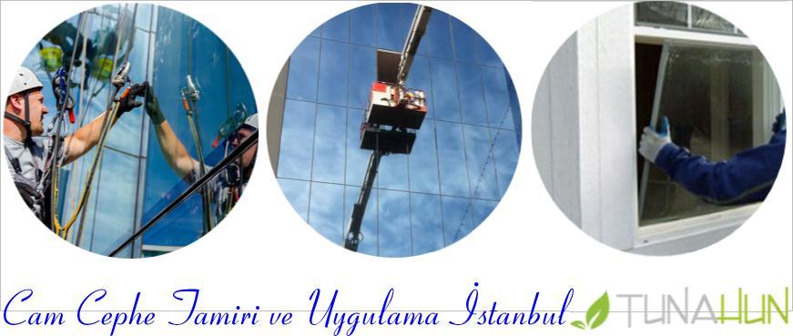 İstanbul cephe camı tamiri, istanbul cephe camı uygulama